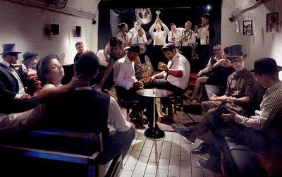 Keller des Jazz Bar SCAT CLUB